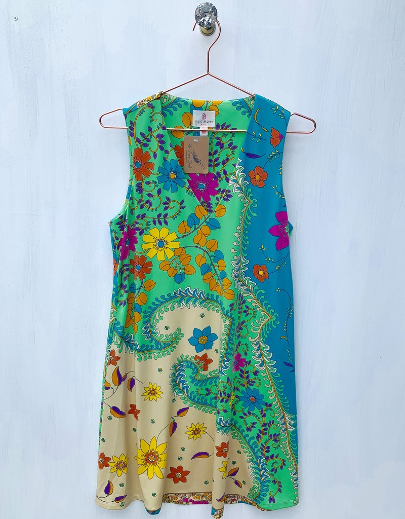 Julie Brown Green Catalina Dress