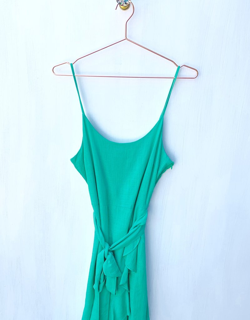 Gilli Teal Green Tie Front Dress