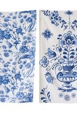 Creative co-op Blue Floral tea towel