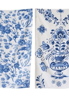 Creative co-op Blue Floral tea towel