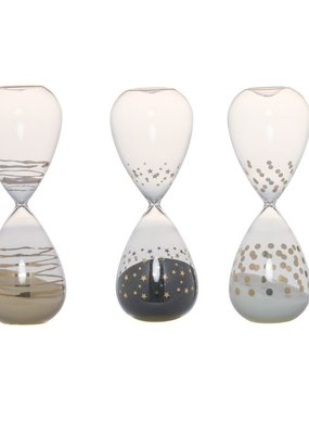 A & B Home decorative glass hour glass