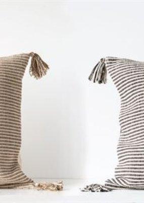 "Creative co-op 24"" Sq woven stripe pillow"