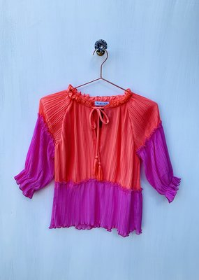 Long sleeve Coral Blouse