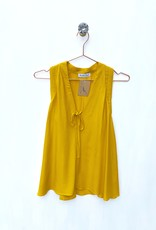Current Air S/less V-Neck Mustard Top