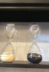 A & B Home decorative glass hour glass