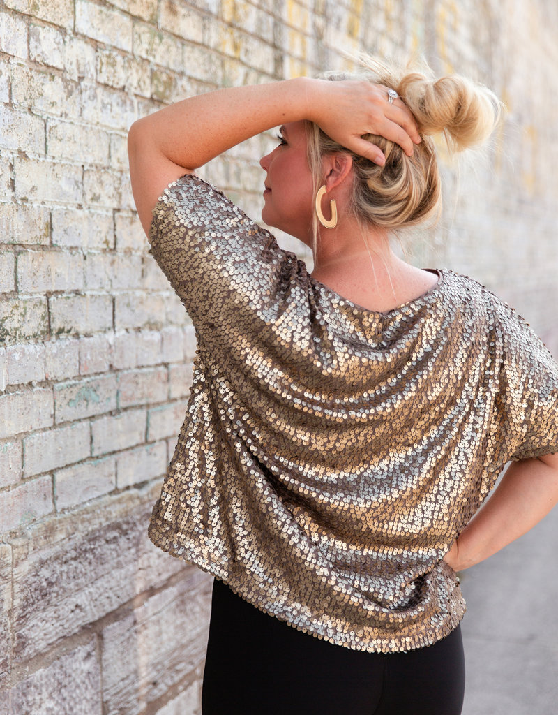 wishlist Mocha Sequin Top