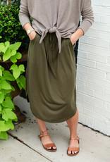 Casual InC Olive Mini Skirt