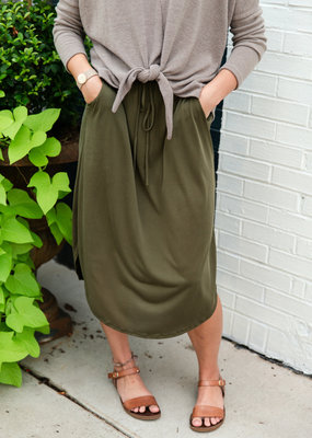 Casual InC Olive Midi Skirt