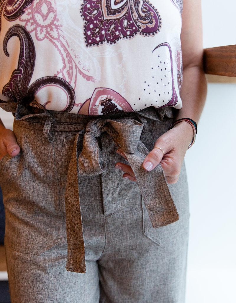 Do + Be Tan tie waist pant