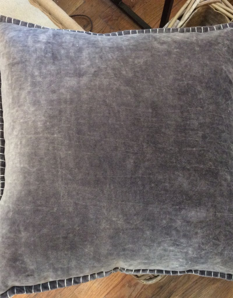 Loloi Gray Velvet Down Filled Accent Pillow