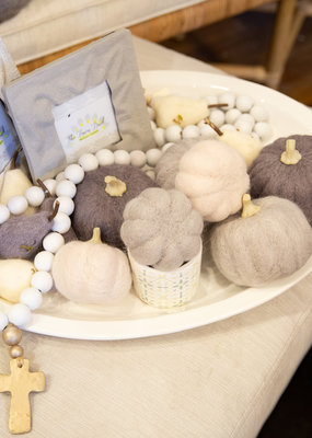 Creative co-op Round wool felt pumpkin