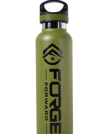 TAC FLASK,  20 OZ, FORGE FORWARD, OLIVE