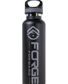 TAC FLASK,  20 OZ, FORGE FORWARD, BLACK