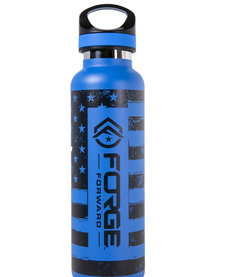 TAC FLASK,  20 OZ, FORGE FORWARD FLAG, PACIFIC BLUE