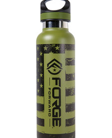TAC FLASK,  20 OZ, FORGE FORWARD FLAG, OLIVE