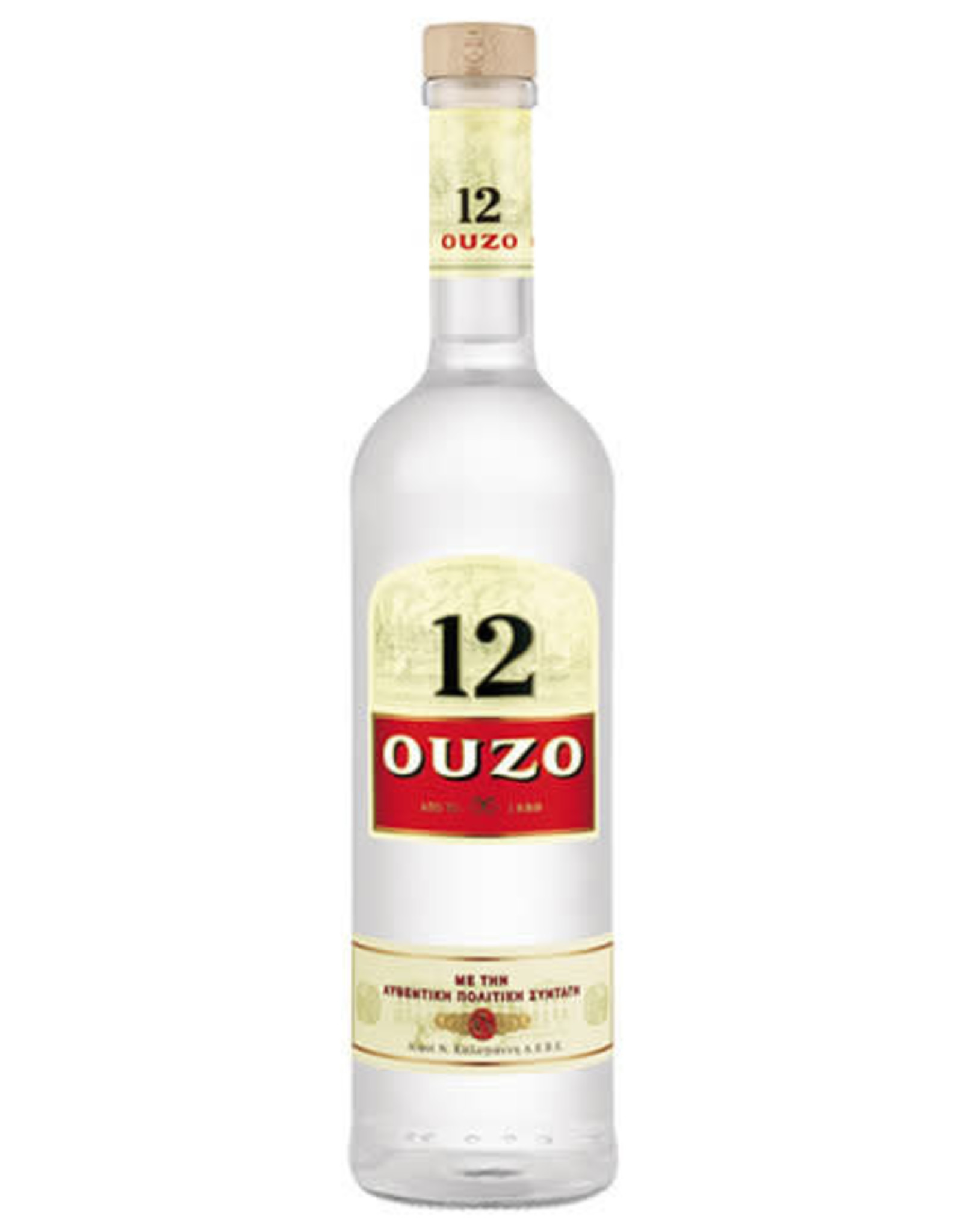 12 OUZO LIQUEUR 750ML