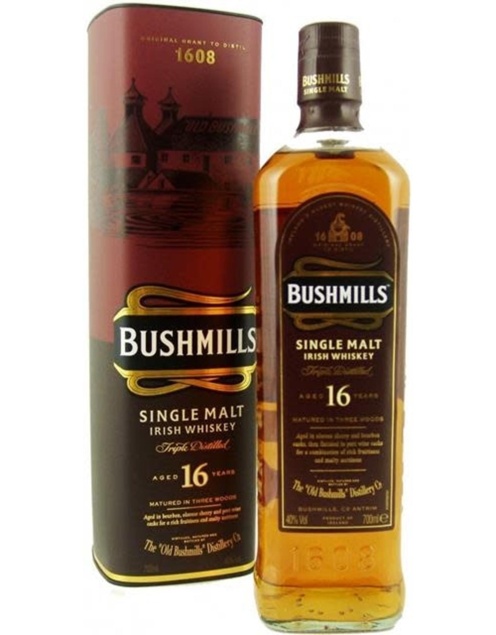 BUSHMILLS MALT 16 YEAR IRISH WHISKEY 750ML