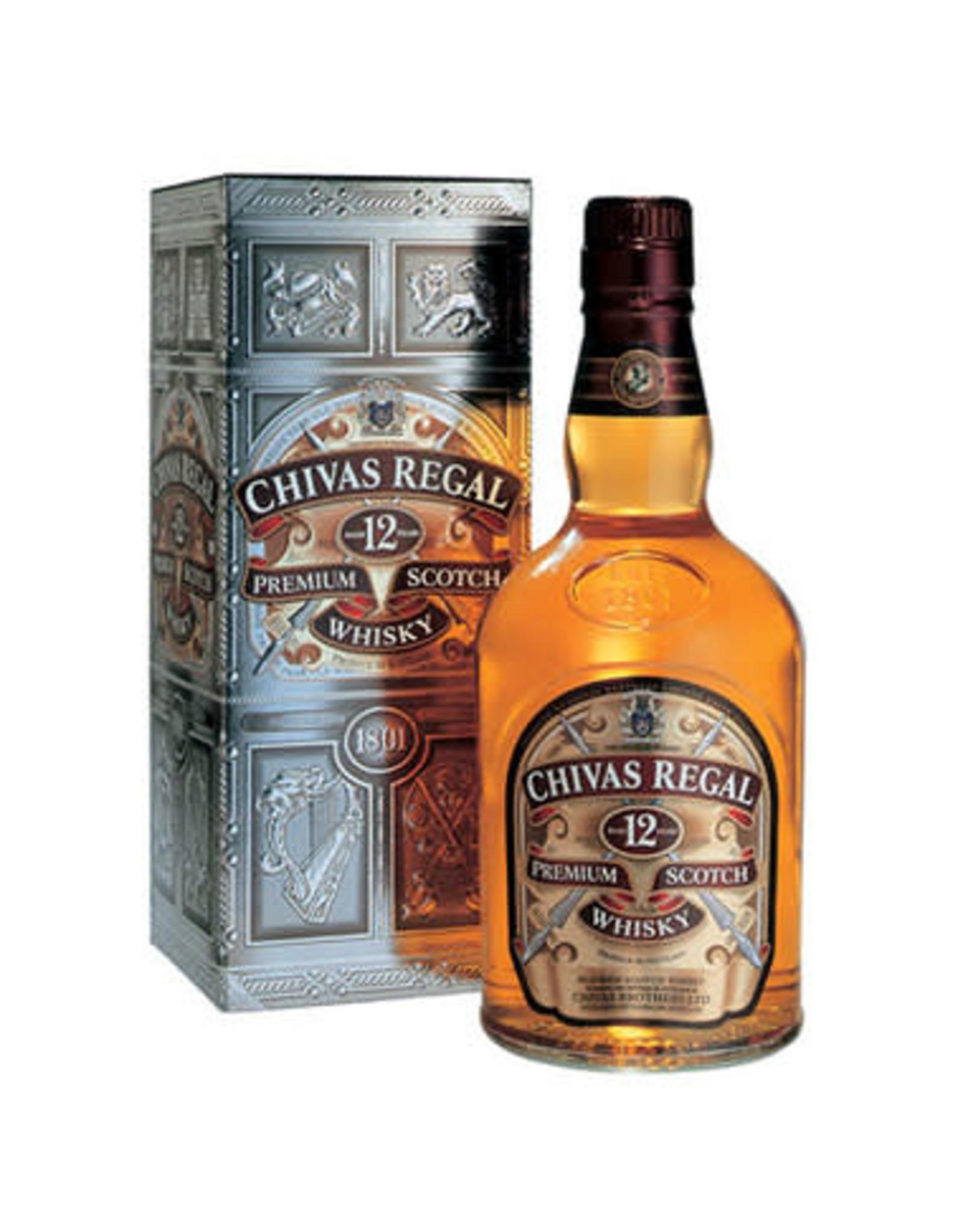 CHIVAS REGAL 12 YR SCOTCH 750ML