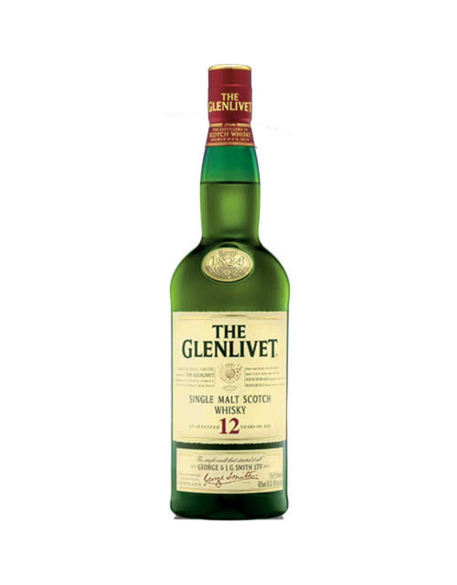 GLENLIVET 12 YR SCOTCH 750ML