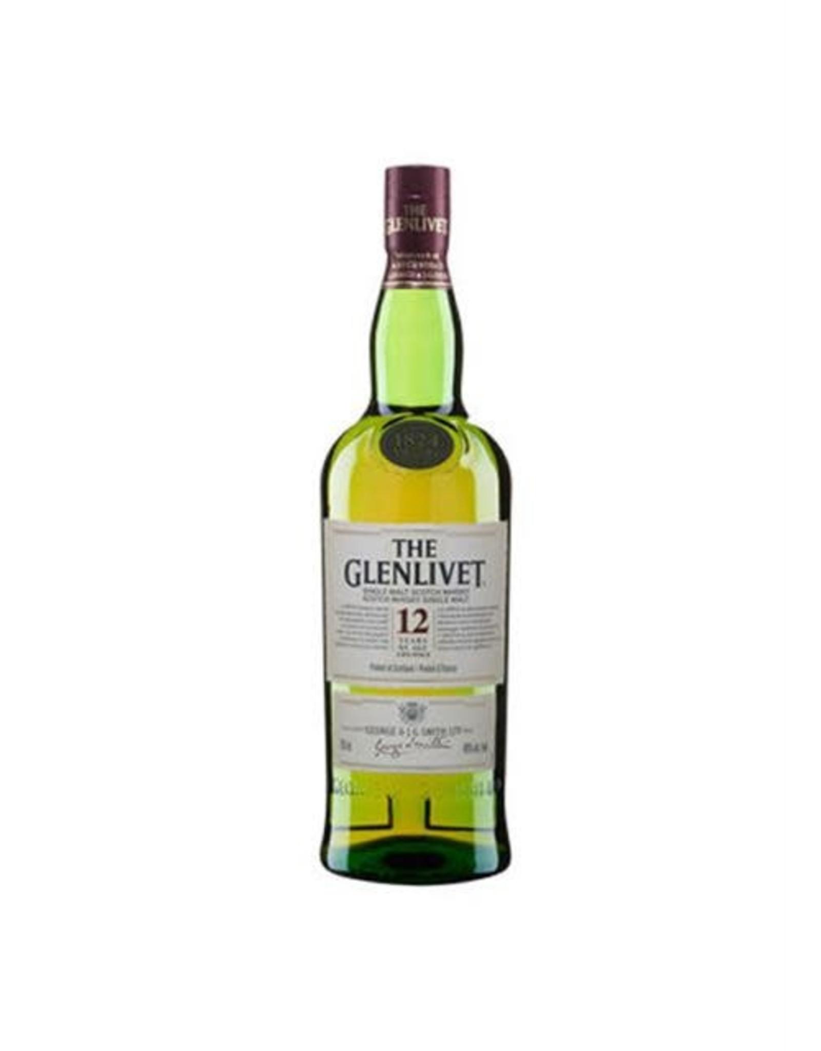 GLENLIVET 12YR SCOTCH 375ML