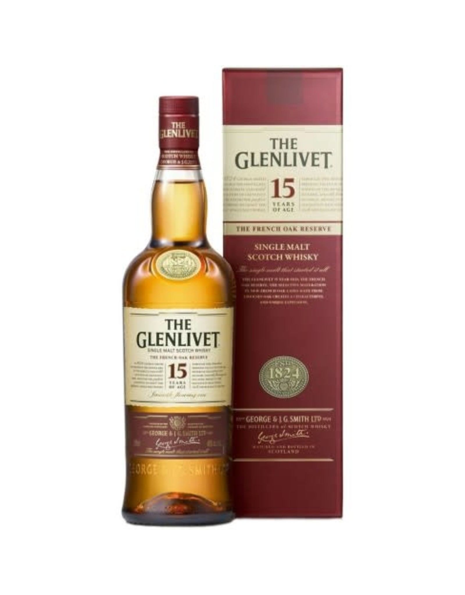 GLENLIVET FRENCH OAK RESERVE 15 YR SCOTCH 750ML