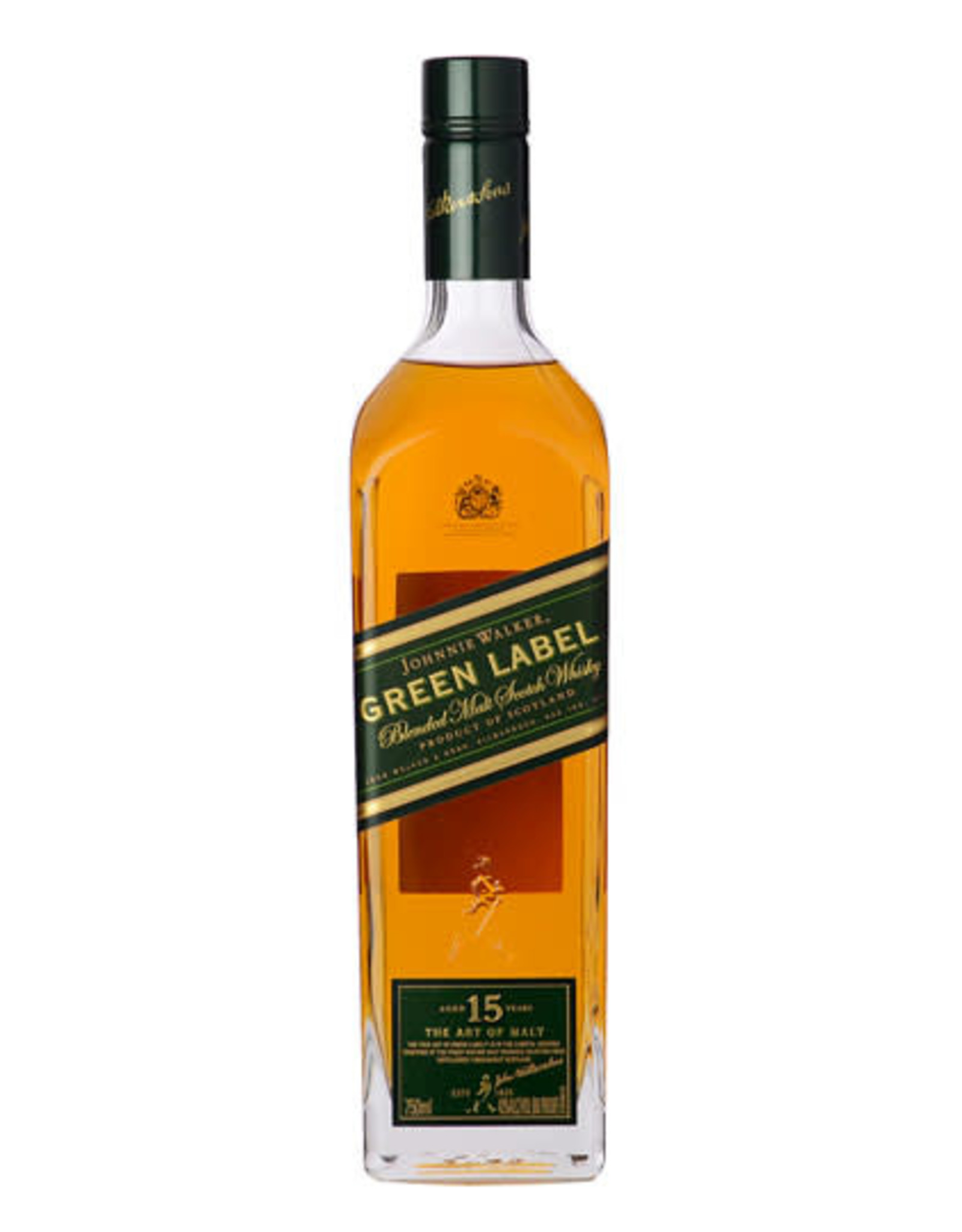 JOHNNIE WALKER GREEN LABEL 15 YR SCOTCH 750ML