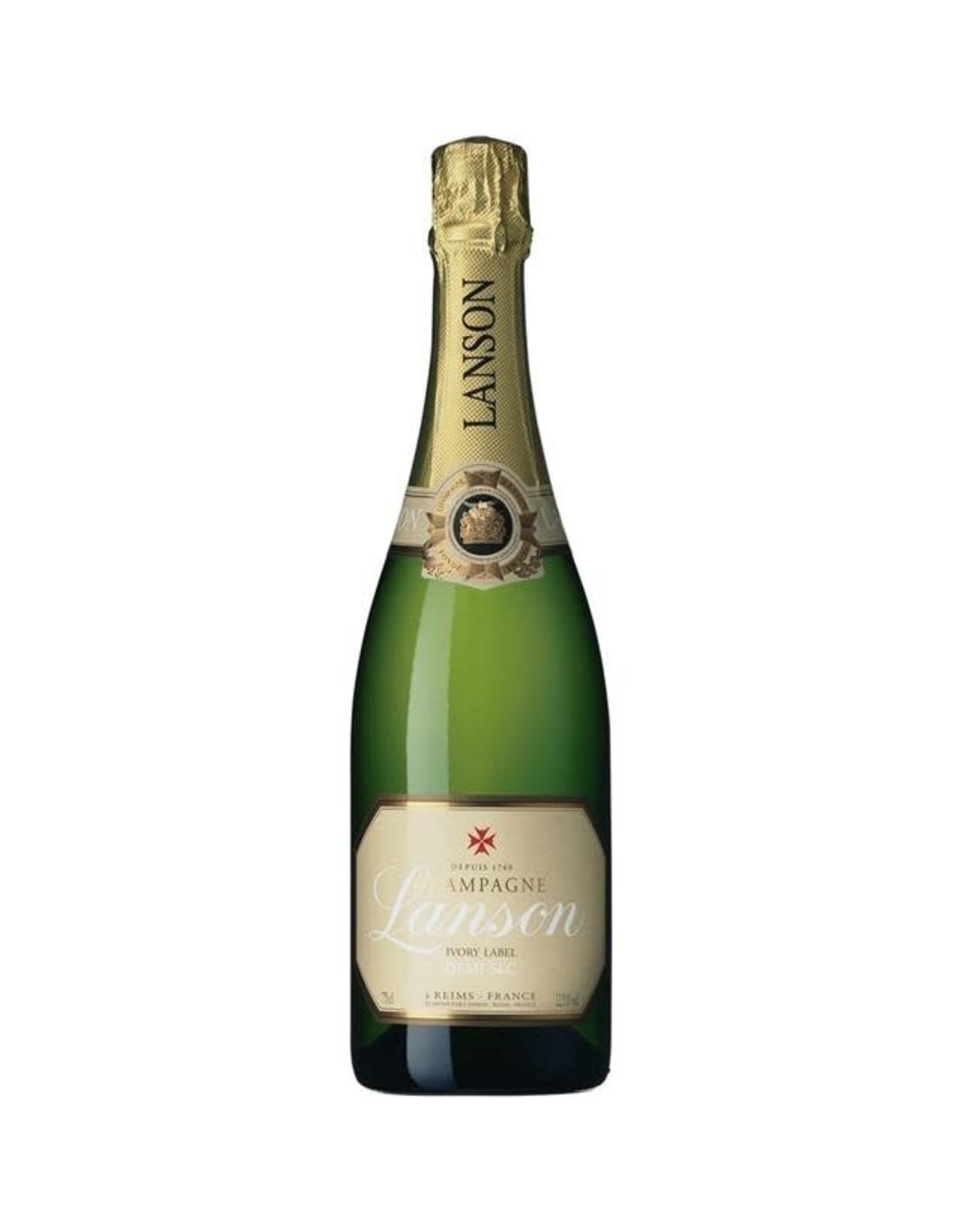 LANSON DEMI-SEC IVORY LABEL CHAMPAGNE 750ML