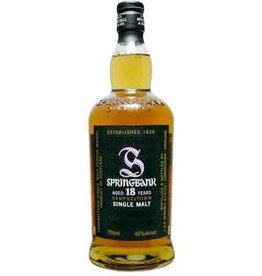 SPRINGBANK 18yr SINGLE MALT SCOTCH 750ml