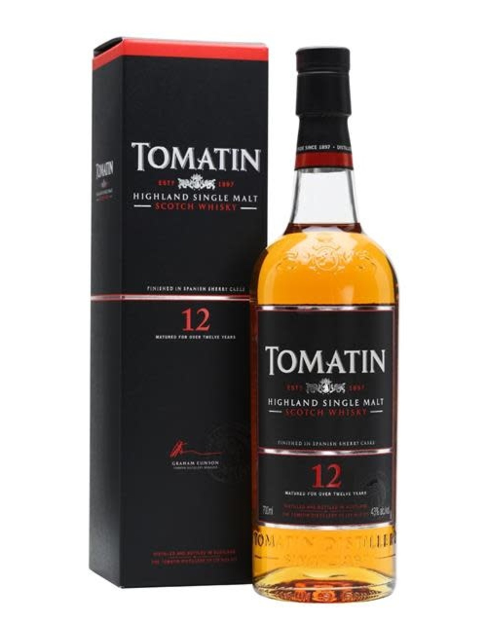TOMATIN 12 YEAR OLD SCOTCH WHISKEY 750ML