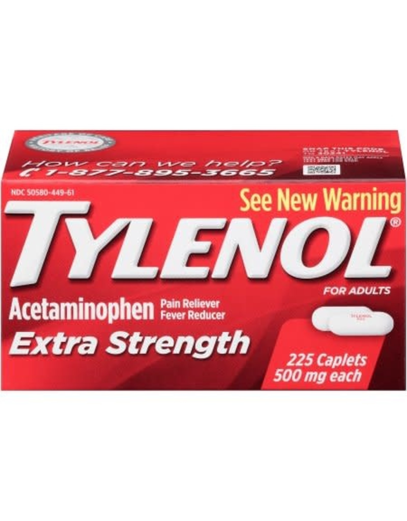 TYLENOL EXTRA STRENGTH 2-500 EACH