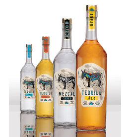 PAINTED DONKEY ANEJO TEQUILA 750ML