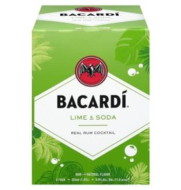 BACARDI LIME SODA 4PK CANS