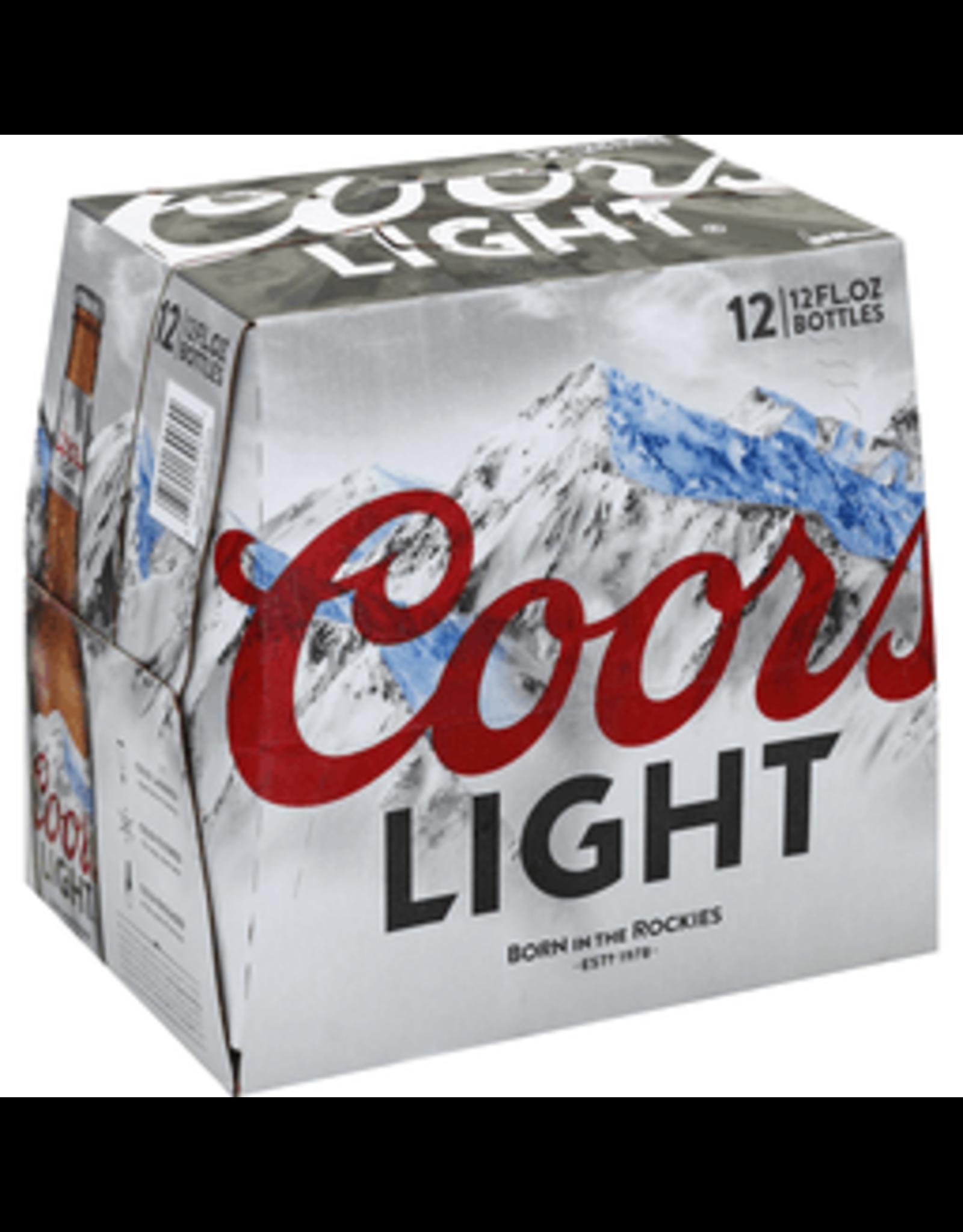 COORS LIGHT 2-12-12oz LN