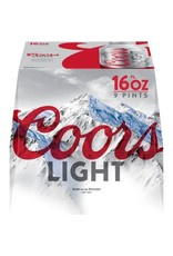 COORS LIGHT 2-9-16oz ALUM NR