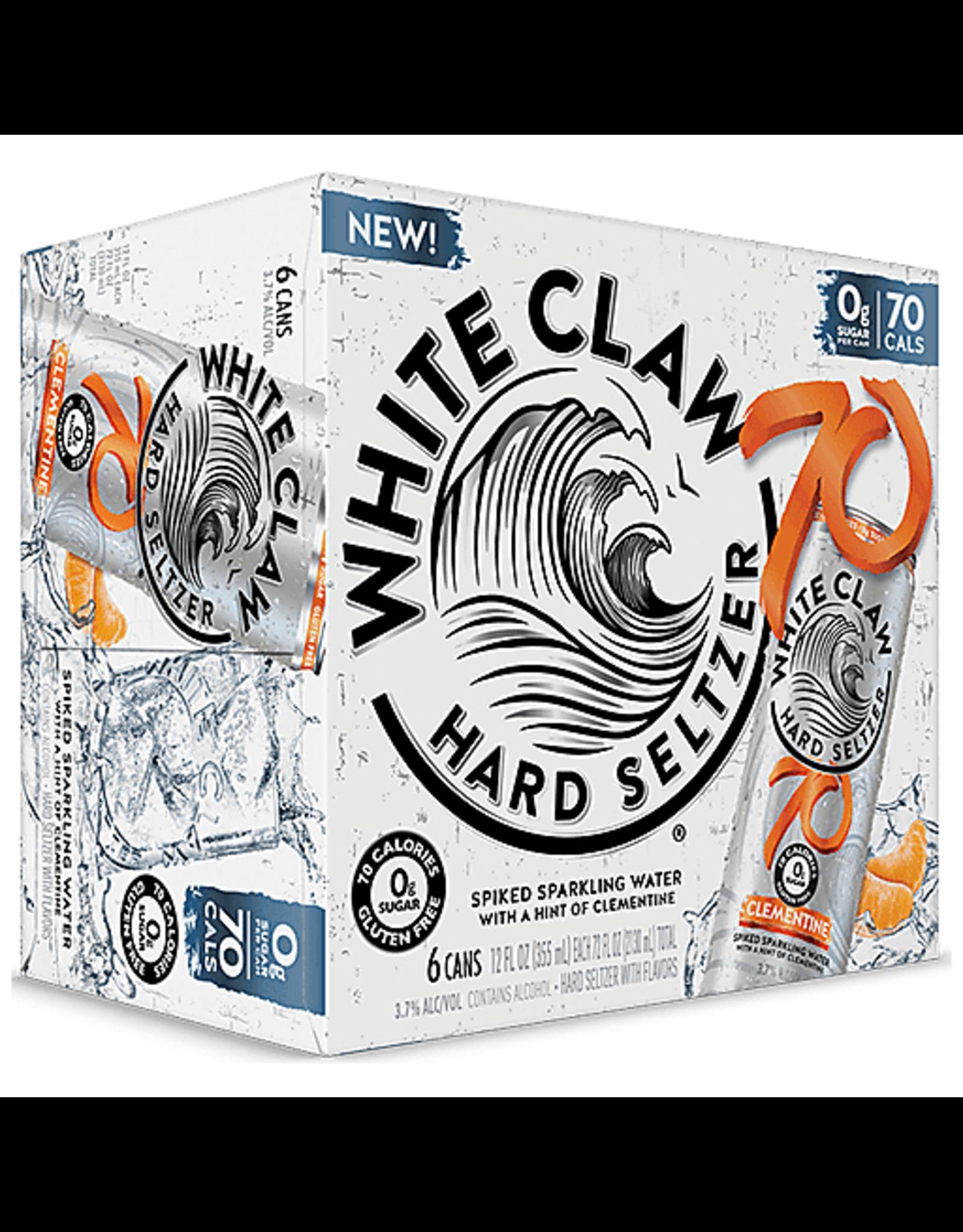 WHITE CLAW 70 CLEMENTINE 4/6/12oz cn
