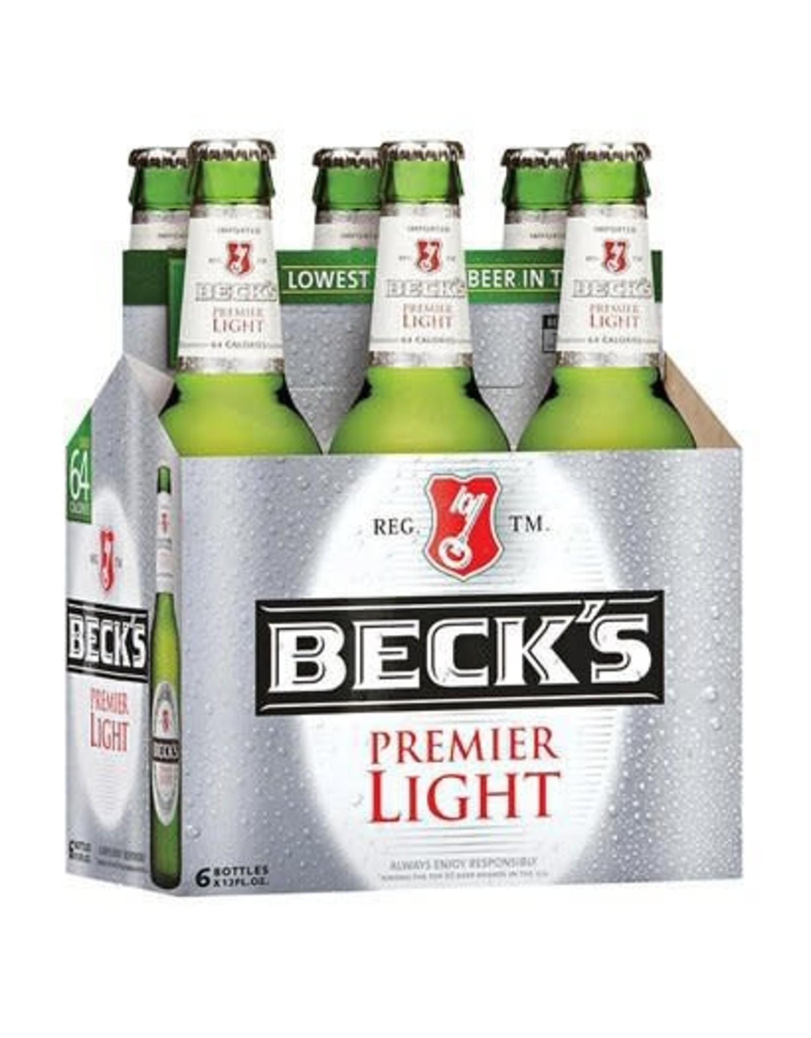 BECKS PREMIER LIGHT 4-6-12oz NR