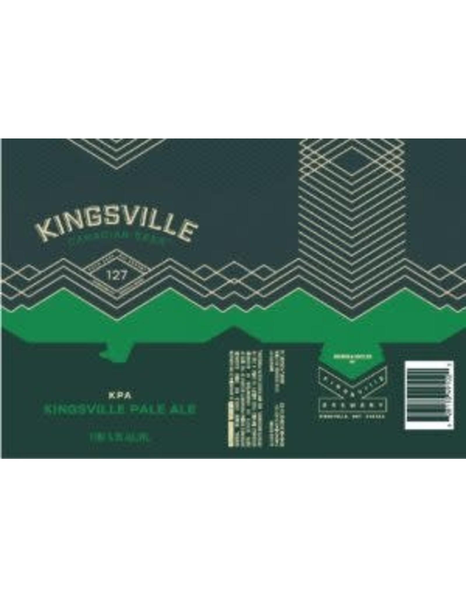 KINGSVILLE PALE ALE  6/4/16CN