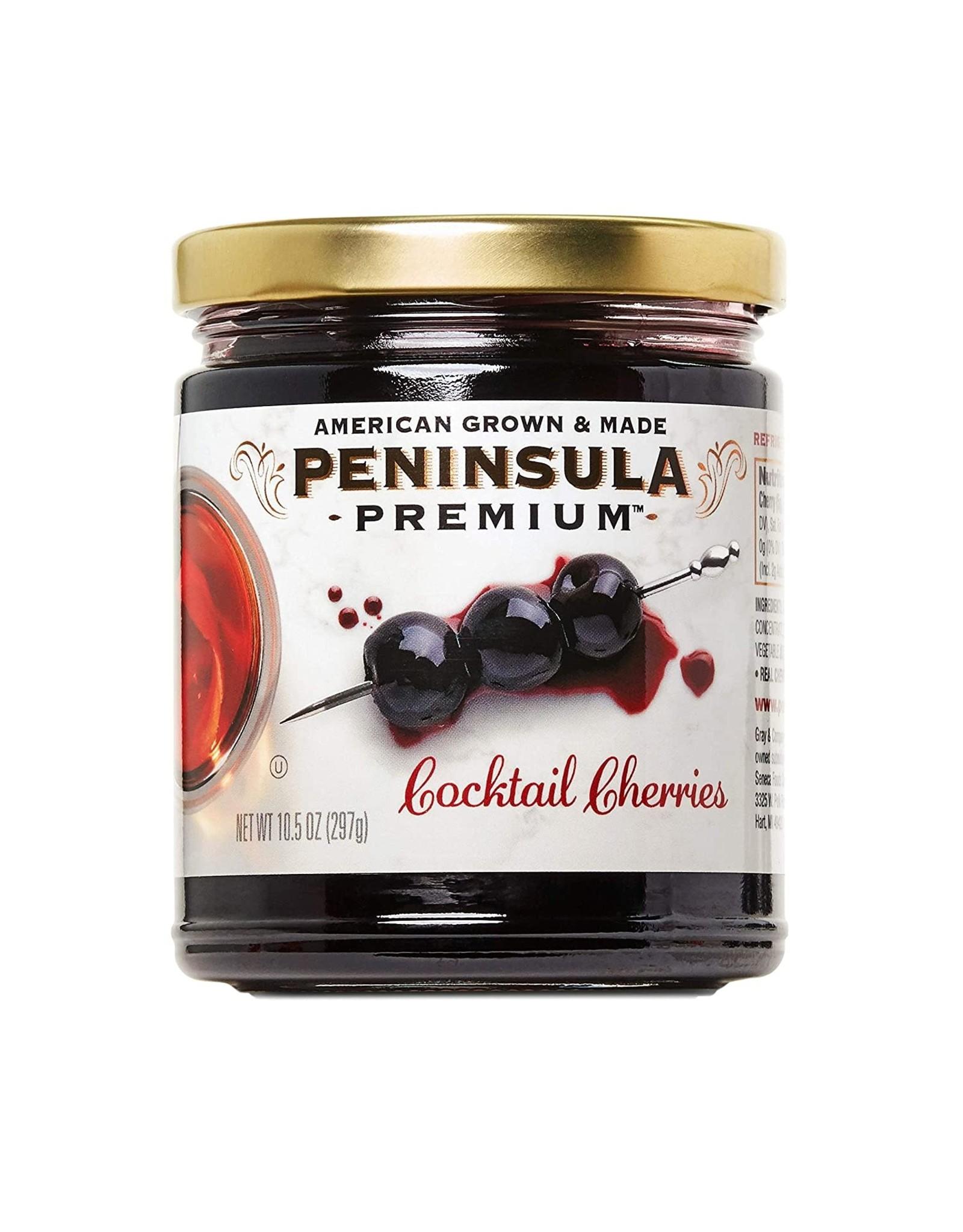 PENINSULA COCKTAIL CHERRIES 10.5OZ