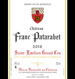 CHATEAU FRANC PATARABET 2016 ST EMILION GRAND CRU