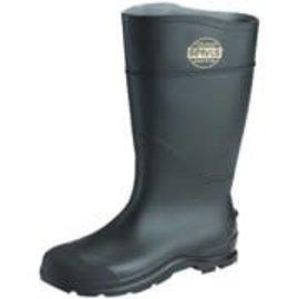 """Black Steel Toe Knee Boot 16"""""""