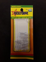 SILVER HORDE Gold Star Lure Head Clear 10 per package
