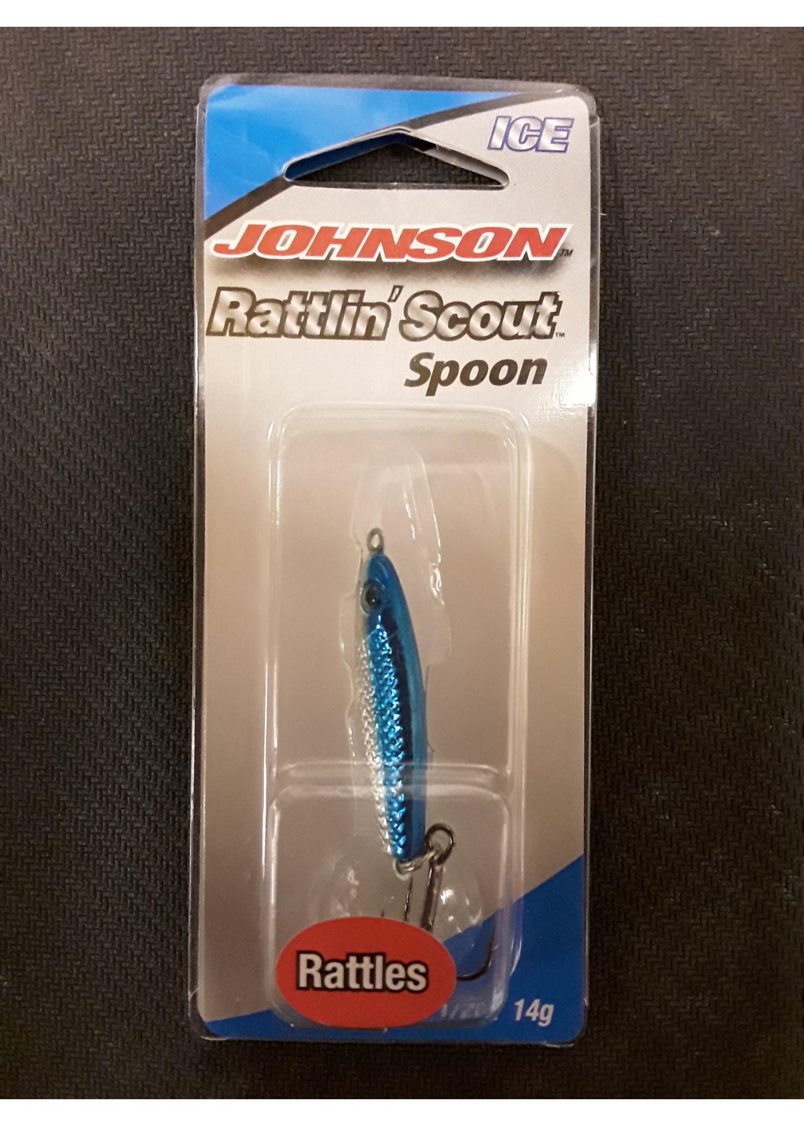 Johnson Rattlin' Scout Spoon 1/2 Nic/blue