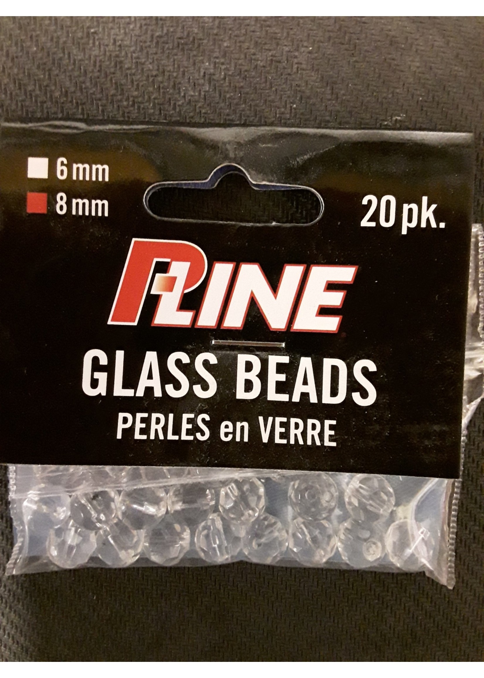 P-LINE P-LINE GLASS BEADS FACETED 8MM