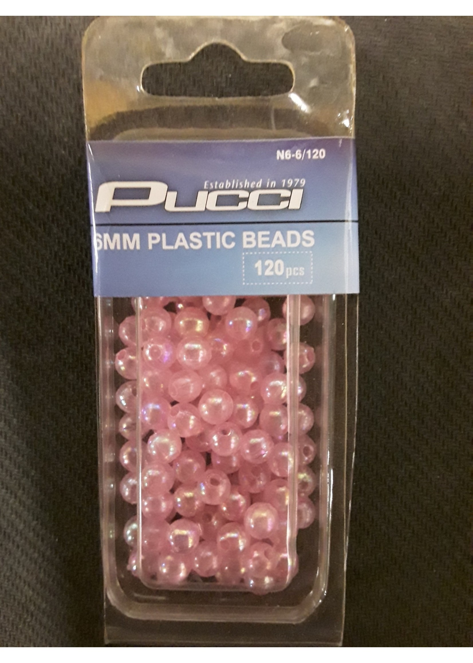 P-LINE Pucci BEADS 6MM R/N 120pk
