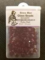 Beau Mac Enterprises Beau Mac Beads Glass Facet 6mm 50pk