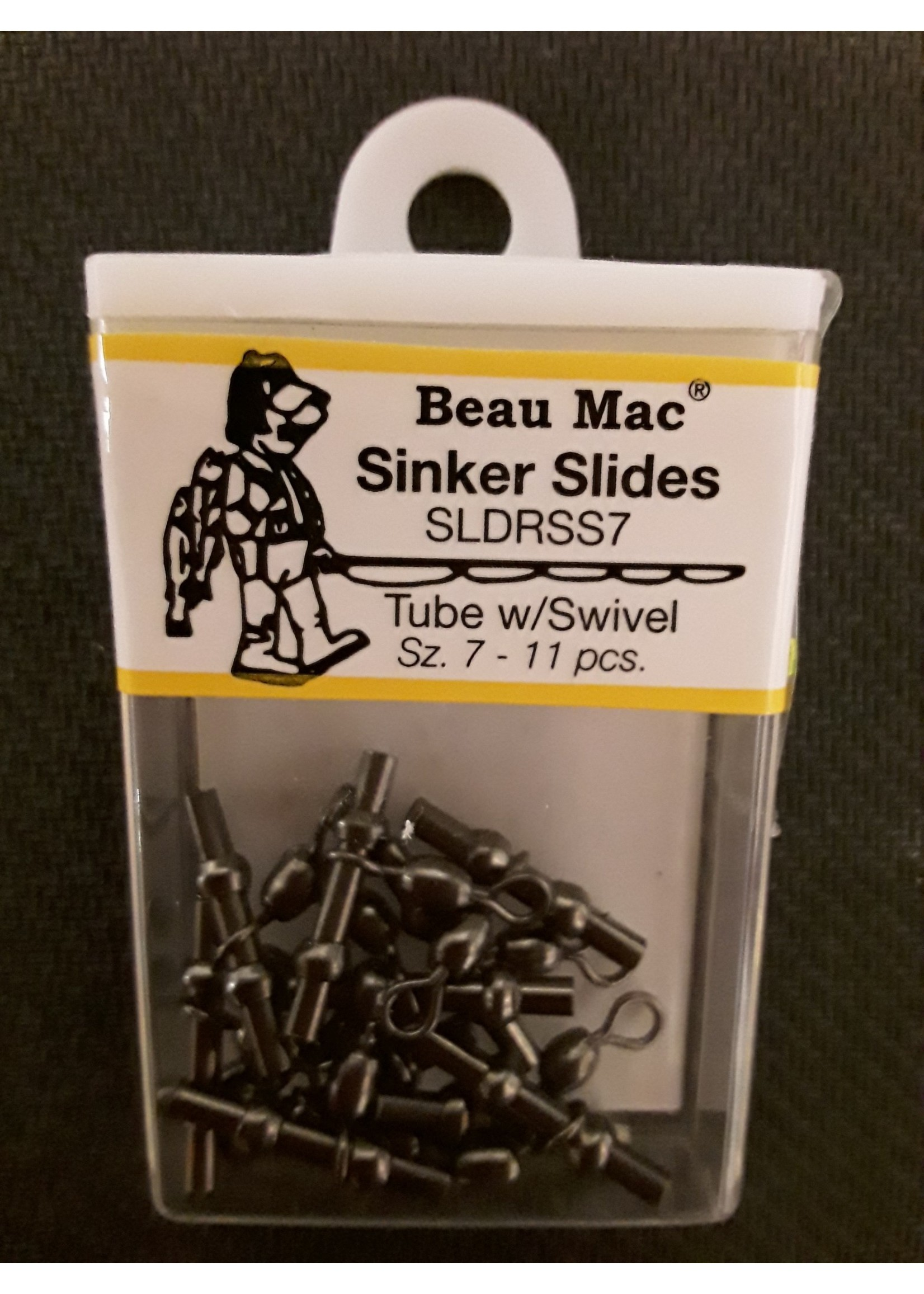 Beau Mac Enterprises Beau Mac Sinker Slider Lrg Tube w/sz 7