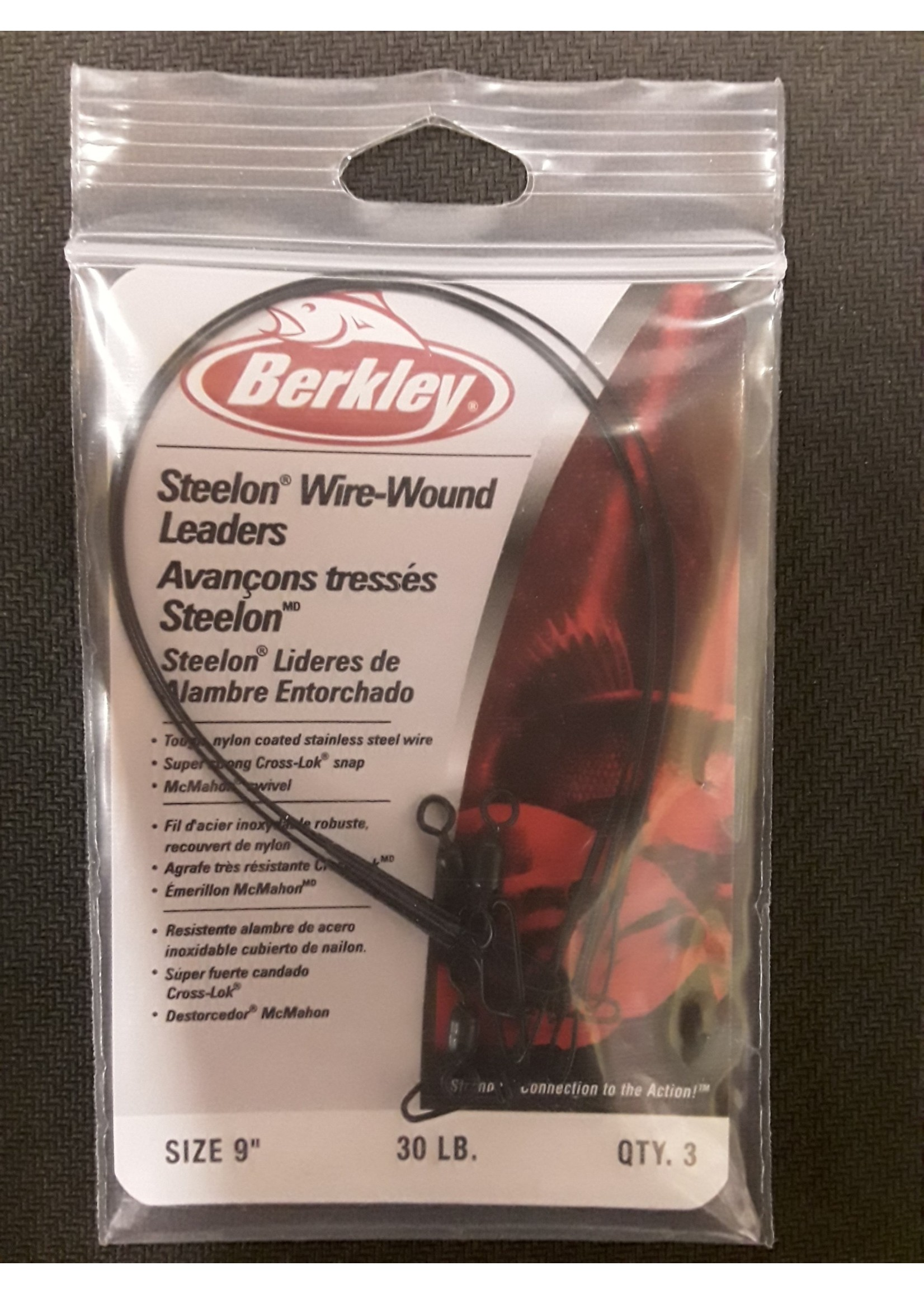 Berkley Berkley Steelon Wire-Wound Leaders Black 0.023in 30lb 9in