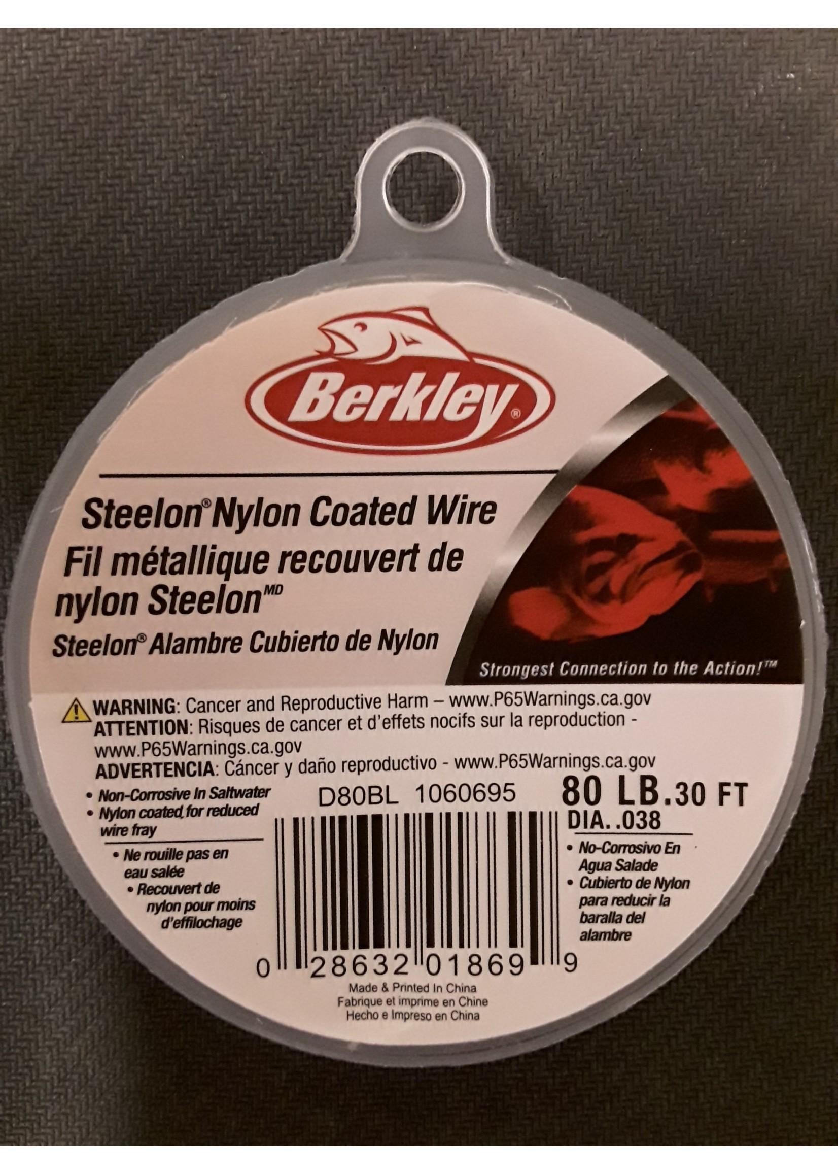 Berkley Berkley D80BL Steelon Nylon Coated Wire, 80Lb Test, Black, 30FT