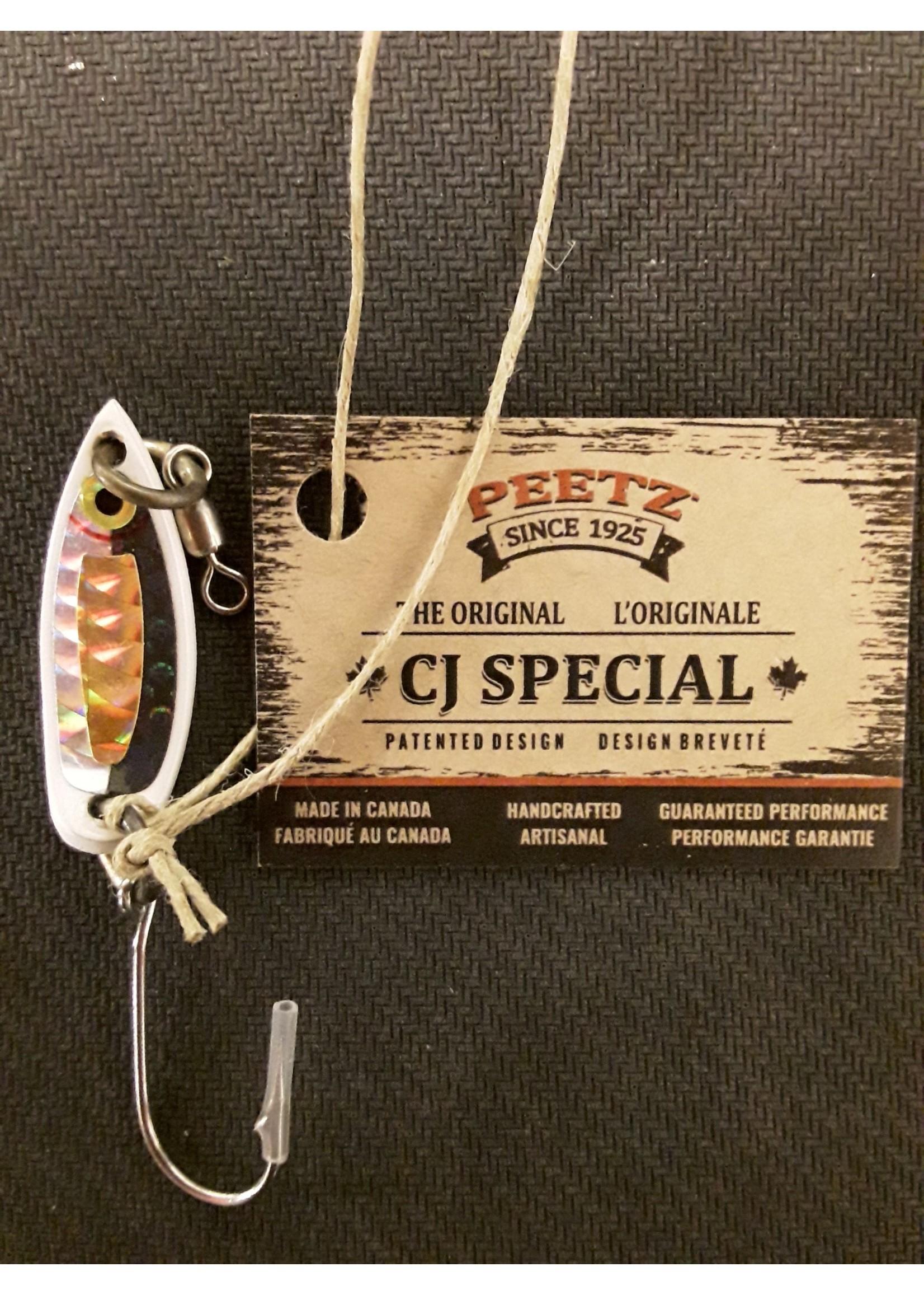 "Peetz Outdoor Unlimited Peetz CJ Special Herring Blk Top Sil/Gold Scale 1.5"""