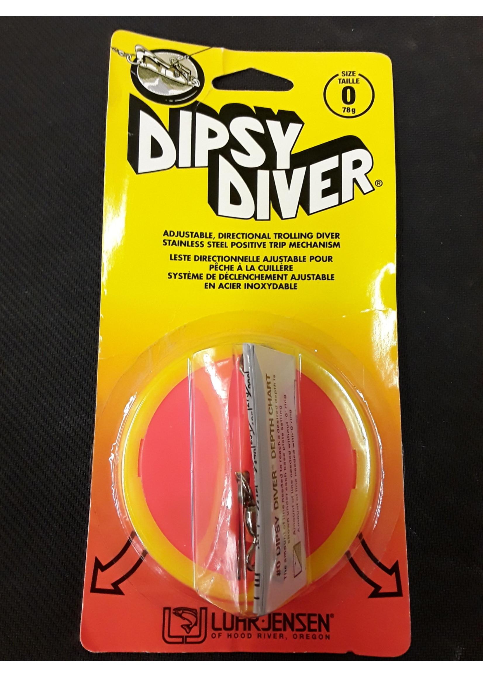 LUHR JENSEN Dipsy Diver 3-1/4 Fire White Bottom